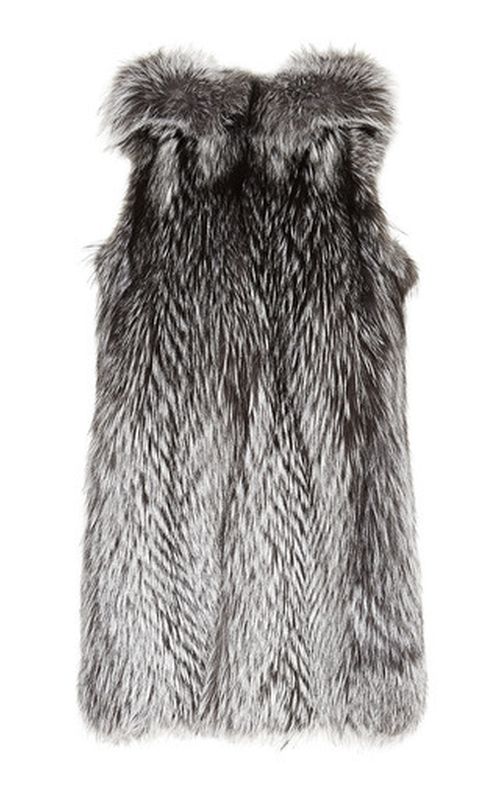 Silver Fox Hooded Vest by Helen Yarmak in Empire - Season 2 Episode 11