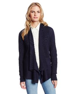 Women's Long Sleeve Shawl Cardigan by Jones New York in Into the Storm