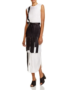 Patchwork Print Silk Dress by DKNY in Mistresses