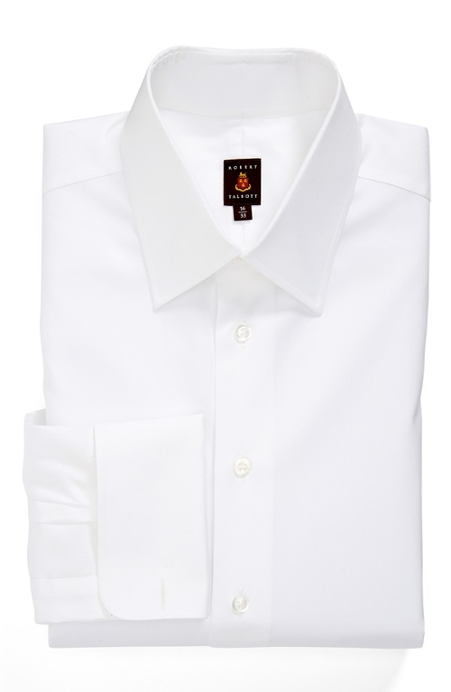Classic Fit Solid Dress Shirt by Robert Talbott in Ant-Man