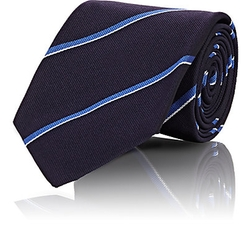 Mixed Stripe Twill Necktie by Ralph Lauren Purple Label in Suits