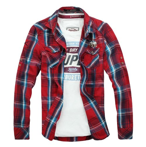 TKing Multi Plaid Two Pocket Shirt by TW-Chicside in Entourage