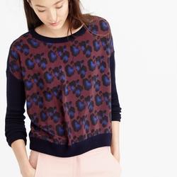 Cobalt Leopard Sweater by J. Crew in Arrow