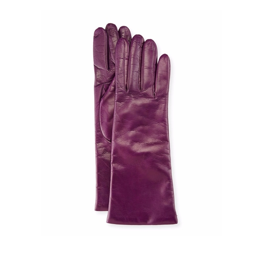Alex Kirkman S Purple Portolano Nappa Leather Gloves From