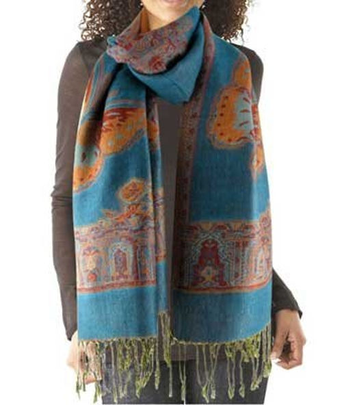 Reversible Tapestry Paisley Scarf by Purse Baby in Adult Beginners