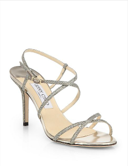 Elaine Strappy Glitter Sandals by Jimmy Choo in The Other Woman