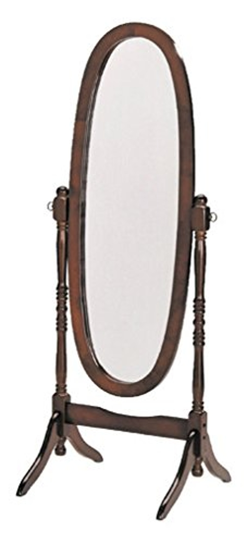 Espresso Finish Wooden Cheval Bedroom Floor Mirror by eHomeProducts in The D Train