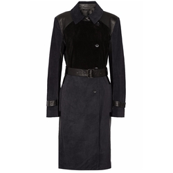 Suede And Leather Trench Coat by Ohne Titel in The Good Wife
