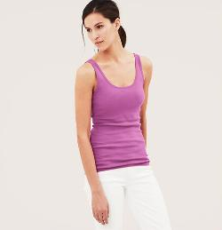 Cotton Tank Top Tee Shirt by Loft in Ride Along