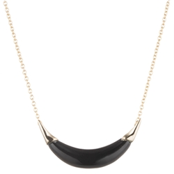 Small Capped Crescent Pendant Necklace by Alexis Bittar in Supergirl