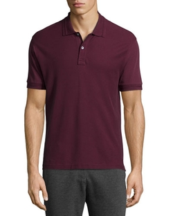 Short-Sleeve Pique Polo Shirt by ATM in Modern Family