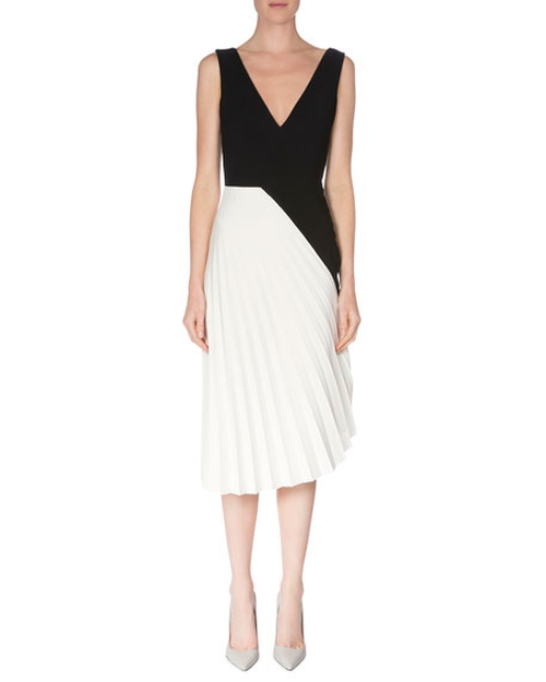 Sleeveless Colorblock Pleated Dress by Roland Mouret in Suits - Season 6 Episode 9
