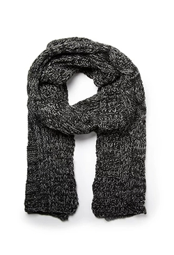 Marled Cable Knit Scarf by 21men in Jessica Jones
