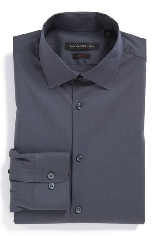 Textured Oxford Dress Shirt by Ermenegildo Zegna in Focus