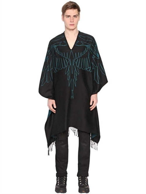 Aserel Cotton & Viscose Jersey Poncho by Marcelo Burlon County Of Milan in Why Him?