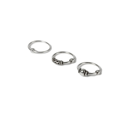 Ball Hoop Nose Rings by 20G in Deadpool