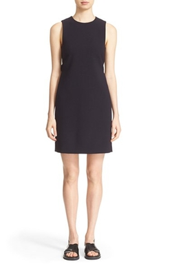 Rosanelle Stretch Wool Sheath Dress by Theory in Billions