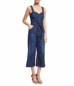 Sleeveless Wide-Leg Cropped Jumpsuit by 7 For All Mankind in Fuller House