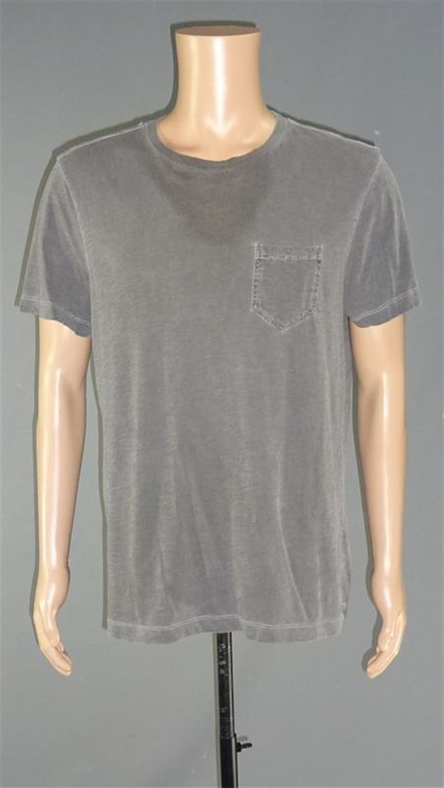 Crew Neck Shirt with Patch Chest Pocket by Calvin Klein in Poltergeist