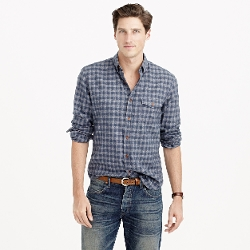 Tonal Gingham Slim Brushed Twill Shirt by J. Crew in Absolutely Anything