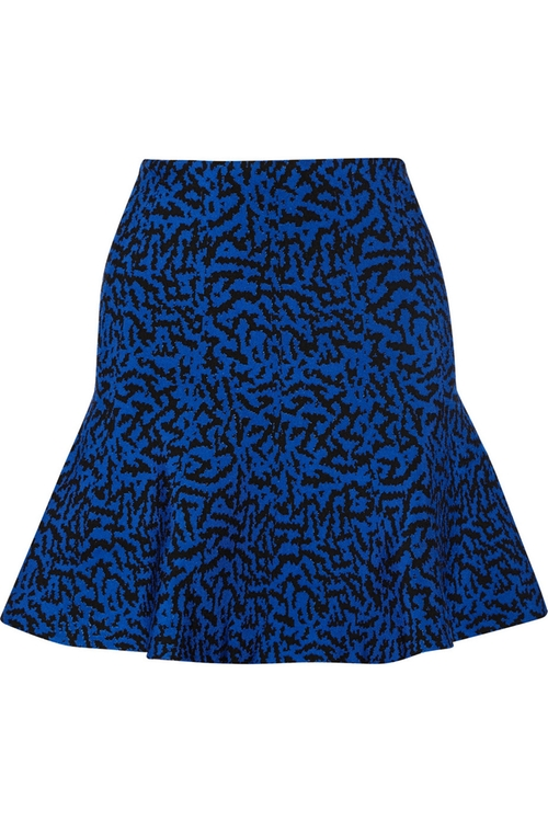 Maisie Stretch Jacquard-Knit Mini Skirt by Issa in The Mindy Project - Season 4 Episode 13