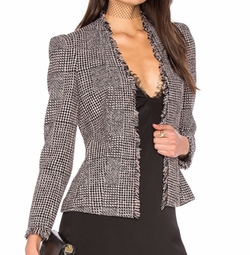 Houndstooth Tweed Jacket by Rebecca Taylor in Quantico