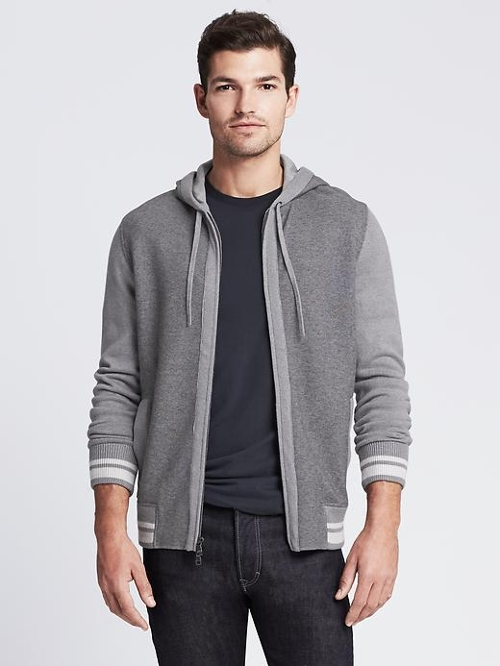 Tipped Gray Sweater Jacket by Banana Republic in Insidious: Chapter 3
