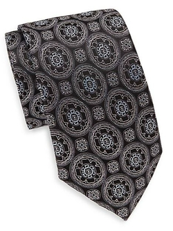 Flower Medallion Silk Tie by Saks Fifth Avenue in Billions