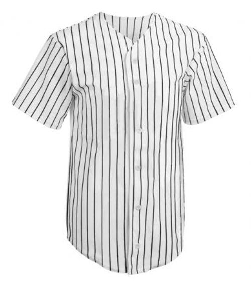 Adult Pro Style Pinstripe 6 Button Front Jersey Mens by Logo Softwear in Interstellar