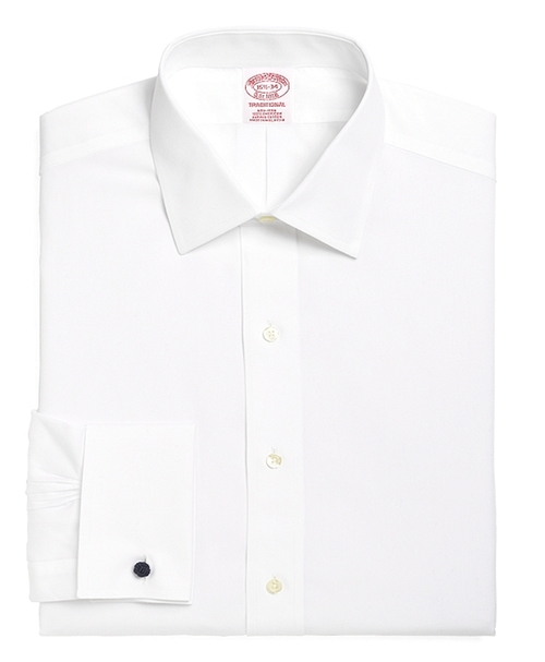 Spread Collar French Cuff Dress Shirt by Brooks Brothers in A Walk in the Woods