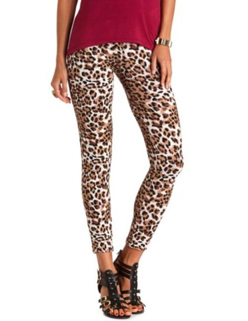 COTTON LEOPARD PRINT LEGGINGS by Charlotte Russe in Step Up: All In