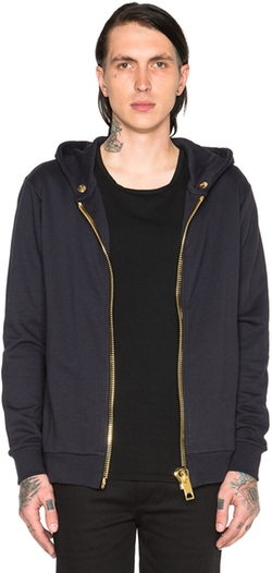 Maxi Pullover Zip Hoodie by Palm Angels in Power
