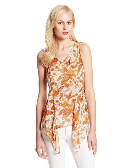 Women's Floral Print Tank by Karen Kane in The DUFF