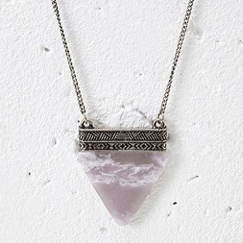 Faux Stone Pendant Necklace by Forever 21  in The Flash - Season 2 Episode 22