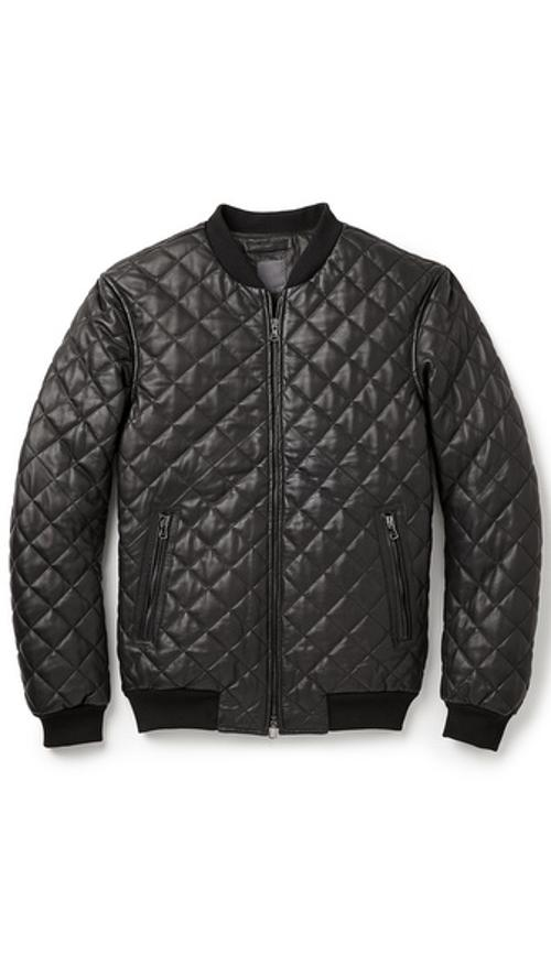Quilted Leather Bomber Jacket by Lot78 in John Wick