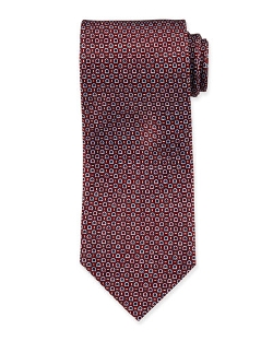 Gancini-Print Tie by Salvatore Ferragamo in Self/Less