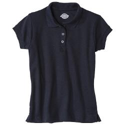 Girls' School Uniform Short-Sleeve Interlock Polo by Dickies in Wish I Was Here