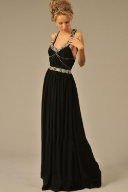 Scoop Neckline Chiffon Made Evening Dress by DresSale in The Devil Wears Prada