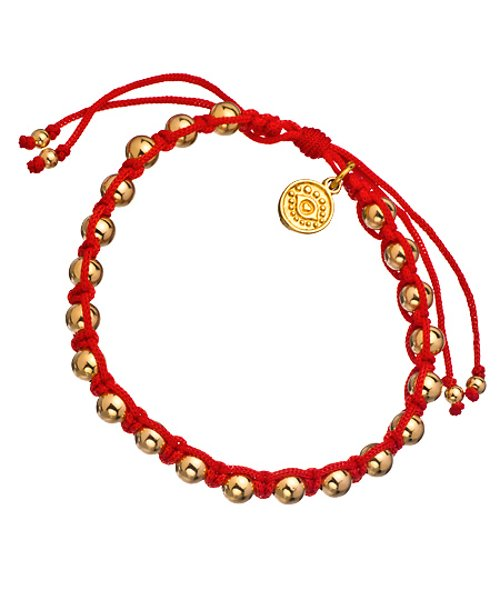 Red Macrame And Gold Bead Bracelet by Blee Inara in Need for Speed