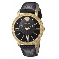 New Krios Gold Ion-Plated Stainless Steel Watch by Versace in Rosewood