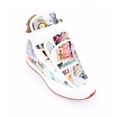 Three Tongue Runner High Top Trainers by Vivienne Westwood in Empire