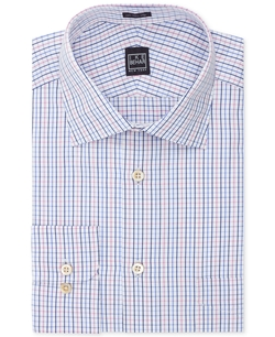 Velvet Multi-Check Dress Shirt by Ike Behar in Survivor