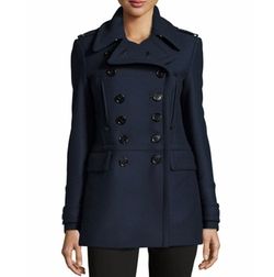 Milbridge Wool Twill Pea Coat by Burberry Brit in How To Get Away With Murder
