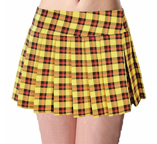 Tartan Plaid Pleated Mini Skirt by Seneca Clothing in Clueless