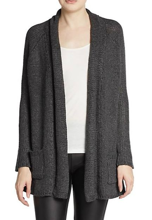 Open-Front Knit Cardigan by Willow & Clay in Spy