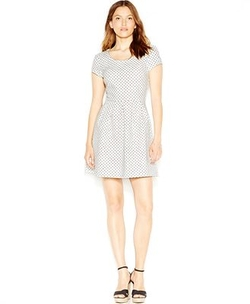 Zip-Back Polka-Dot Dress by Maison Jules in Jane the Virgin