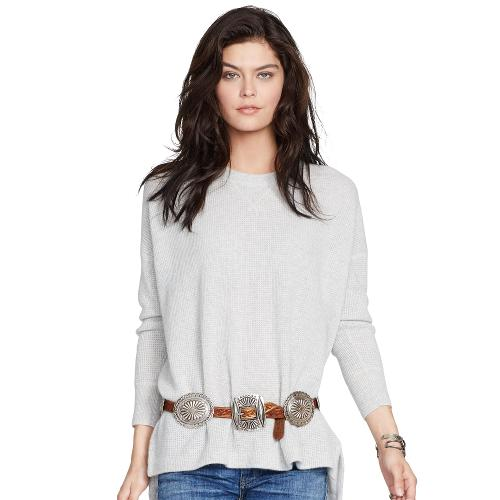 Waffle-Knit Cashmere Sweater by Polo Ralph Lauren in No Strings Attached