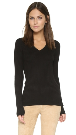 Skinny Rib V Neck Sweater by Vince in Keeping Up With The Kardashians