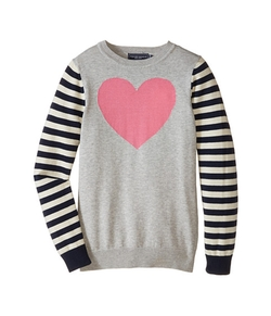Gisele Heart Sweater by Toobydoo in Black-ish