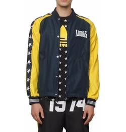 Water Repellant Satin Bomber Jacket by Adidas Originals Blue in Riverdale